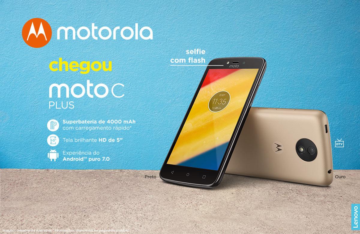 ab6bb8567 Smartphone Moto C Plus XT1726 Preto - cea