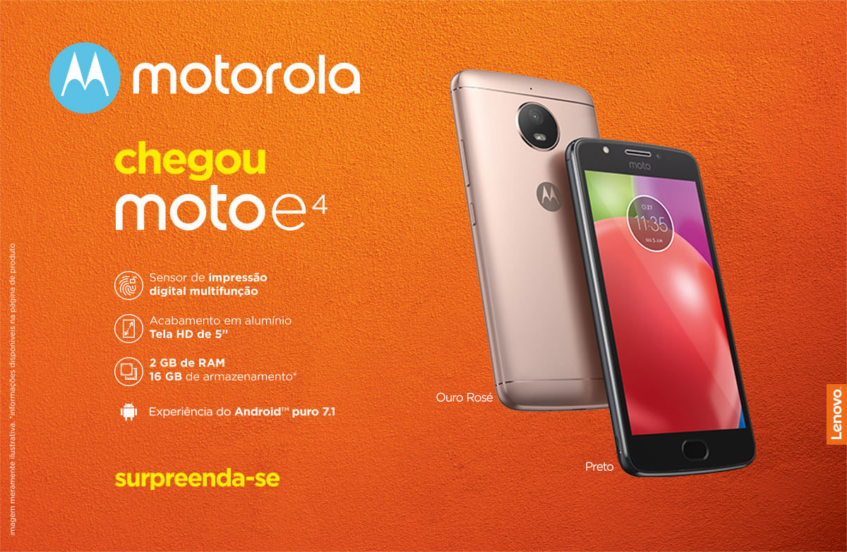a64d3628e Smartphone Moto E4 XT1763 Rosê - cea